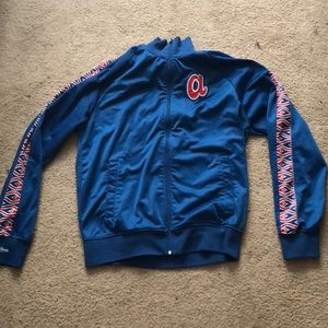 Mitchell and ness Atlanta zip up jacket